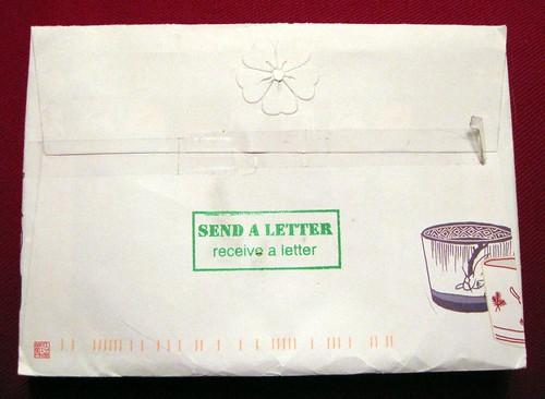 Send a letter, receive a letter
