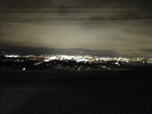 A blurry pic of the city as we were whizzing by...