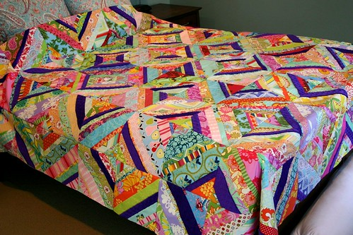 Carnival String Quilt Top