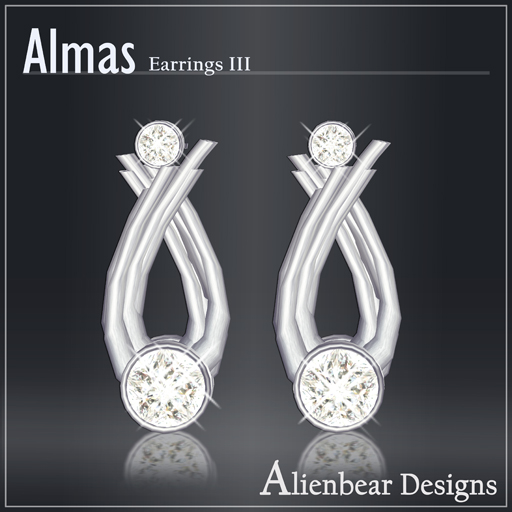 Almas earrings III white