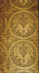 Silk panel with winged lions, Central Asian, Cleveland Art Museum (julianna.lees) Tags: ancient silk textiles sassanian sogdian senmurvs zandane