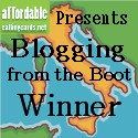 Blogging from the Boot winner's badge