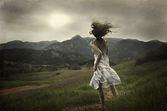 An Unforeseen Calling (Leah Johnston) Tags: california sun mountains field escape wind leah fineart surreal running run malibu hills portfolio runaway calling magical lure johnston whitedress beckon leahjohnston leahjohnstonphotography