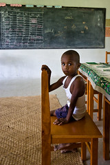 Fijian boy at school