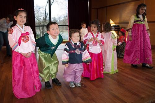 Seollal Arco 2010 : Élection Mister & Miss Hanbok - les plus jeunes