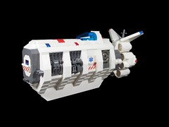 LIU Ship-To-Ship Medevac (Ludgonious) Tags: liu ship lego space medical medic medevac dropship