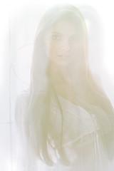 Enesa (Marc Laroche) Tags: portrait bw woman white black color sexy girl beautiful beauty fashion work canon hair model long creative retouching cs4 mymodel