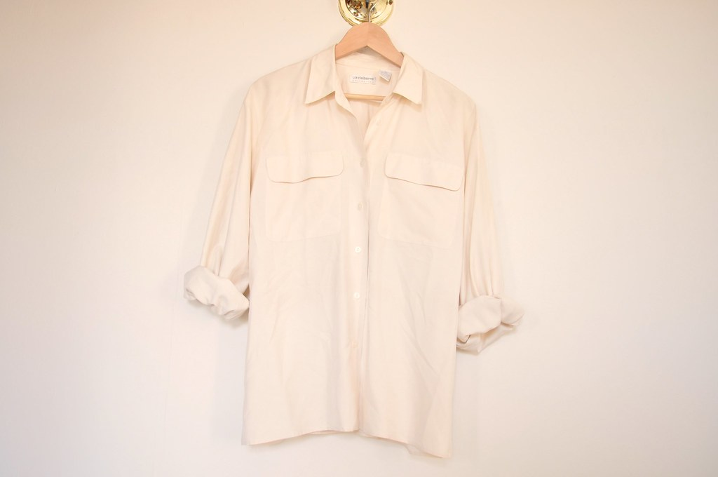 vintage oversized silk top 1
