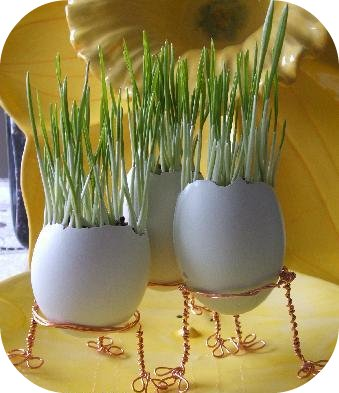 egg-shell easter grass tutorial