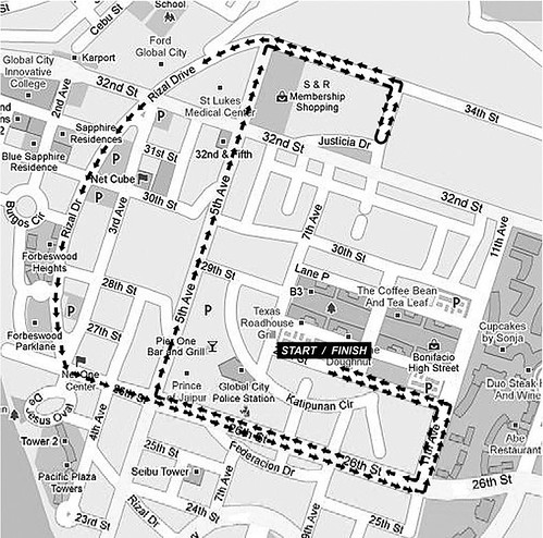 Earth Run 2010 - 5K Route Map
