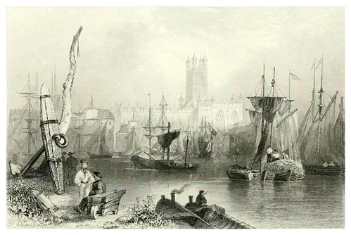 015- Gloucester-The ports, harbours, watering-places, and picturesque scenery of Great Britain 1840
