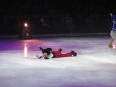 Mickey's down! (Starshyne09) Tags: fall ice iceskating disney mickeymouse disneyonice letscelebrate disneyonice2010
