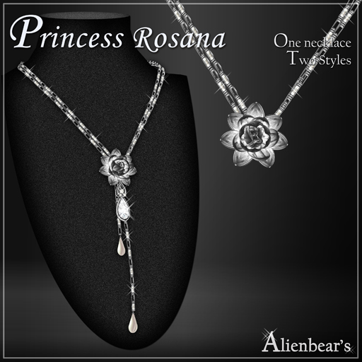 Dark Princess Rosana necklace white