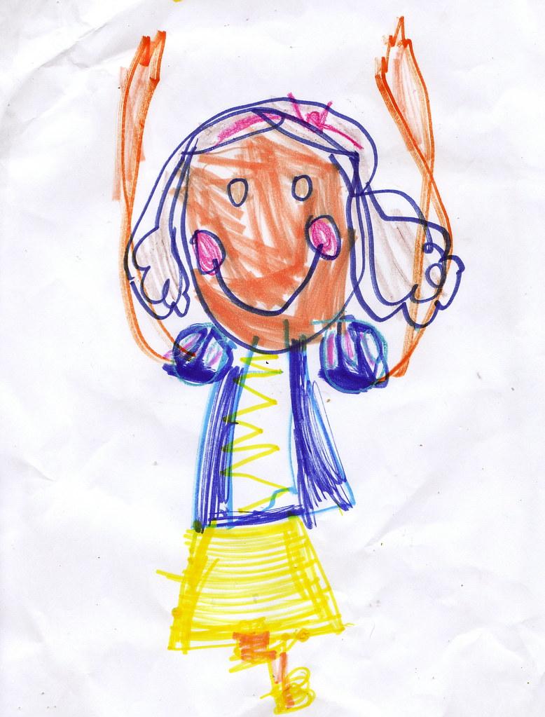 amelia's snow white drawing