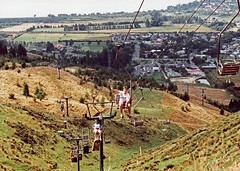 Skyline Gondola Luge Cable chairlift Rotorua New Zealand 1991