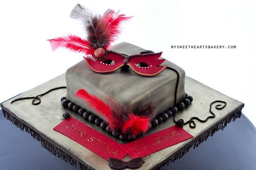 21st Masquerade Cake