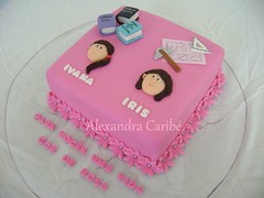 Bolo Irms gmeas - Twin sisters cake (a lawyer and an architect) (Alexandra Bolos Artsticos) Tags: minibolos