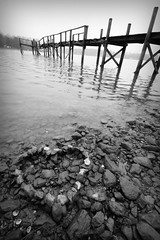 The Sketch Dock (Sean Stallings) Tags: wood old friends lake love water spring dock rocks aqua cloudy memories shell northcarolina naturallight denver holes norman nails laughs splinters lkn lincolncounty canon40d thesketchdock