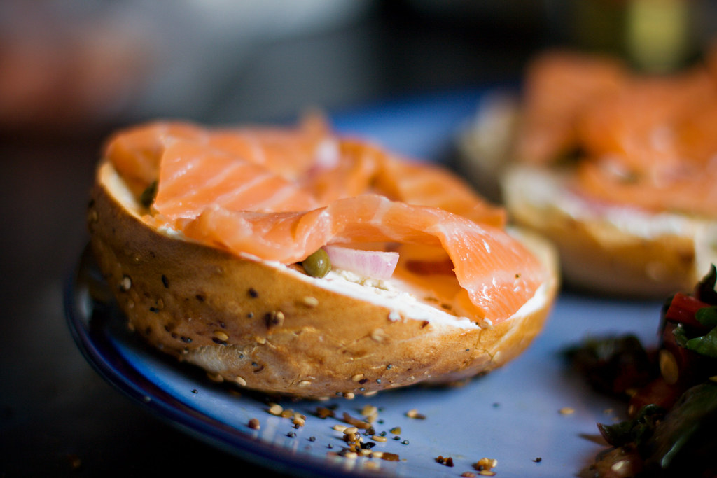 mine with lox on top