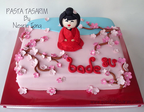 JAPAN GIRL 1ST BİRTHDAY CAKE