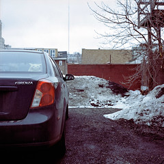 Forenza (michaelgoodin) Tags: urban 120 6x6 tlr film car mediumformat march landscapes pittsburgh kodak pennsylvania side north chemistry pokemon portra 2010 yashicamat forenza c41 400nc unicolor eastallegheny newtopographics deutschtown