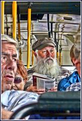 Bus Behavior... (Mike Goldberg) Tags: silhouette transportation editingtools lumixdmctz4 jerusalembotanicalgardens effectscanvaslighting donewithpopular citybusurban