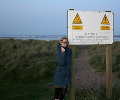 Do not touch or pick up any metallic objects, they may explode and kill you ([fakey]) Tags: northumberland landmines quicksand goswick uxb fakey gwuk unexplodedmines