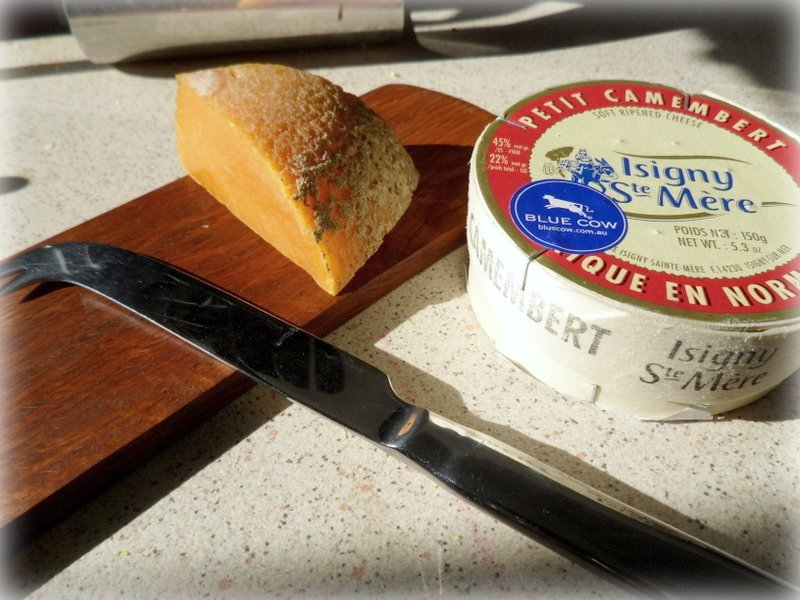 Isigny mimolette and camembert