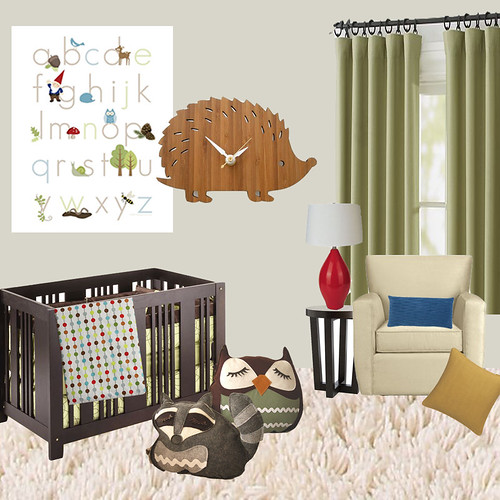 Mod Woodland Creature Nursery Idea Board