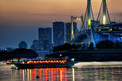 Odaiba Bridge (Sprengben [why not get a friend]) Tags: city wedding summer sky urban music art japan clouds skyscraper observation japanese tokyo bay harbor amazing nikon shinjuku asia waves ship artistic gorgeous awesome watch elevator style divine international stunning tokyotower metropolis roppongi odaiba yokohama charming foreign fabulous gundam hdr shushi rainbowbridge hiyoshi niijima engaging travelphotography shipparty d90 keiouniversity photomatix shibuja travellight d3s sprengben nationalgovernmentbuilding wwwflickrcomphotossprengben fatherofshushi