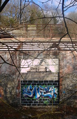 Graff @ Treforest Tin Works (norman preis) Tags: abandoned industry southwales tin site works treforest derelict pontypridd 2010 crawshay trefforest graffitihunting dmeurig