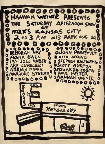 1970 Saturday Afternoon Show at Max's Kansas City (Rare Flyer)