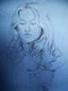 30min-portrait-2007 (Charlotte Alexandra Tatjana) Tags: portrait youngwoman bluepaper englishwoman chalkandgraphite