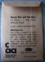 Beeutiful invitation! (Sunny Spells) Tags: london art exhibition seeds bee invitation w1 mosai cleomussi contemparyapplieartsgallery