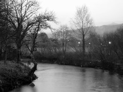 River at twilight