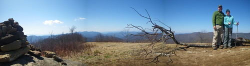 Siler Bald panorama - Chris & Misti