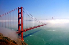 San Francisco Golden Gate Bridge Shrowded in Fog (davidfslavich) Tags: sf california bridge fog landscape golden bay gate san francisco sony area ggb