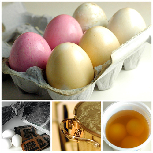 yellow naturally dyed easter eggs