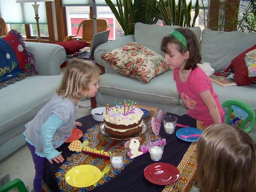 the birthday portion of the tea party