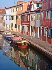 Burano c5 (noemi_2648) Tags: venice italy house colors reflections boat canal village case venezia riflessi burano canale paese villaggio