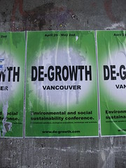 De Growth (knightbefore_99) Tags: green art hippies vancouver corner poster concrete movement bc political social conference sustainability degrowth