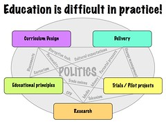 Education is difficult in practice
