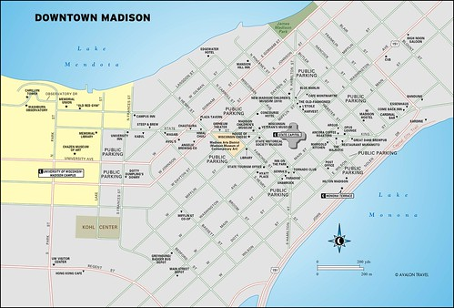downtown madison travel map from moon milwaukee and madison a