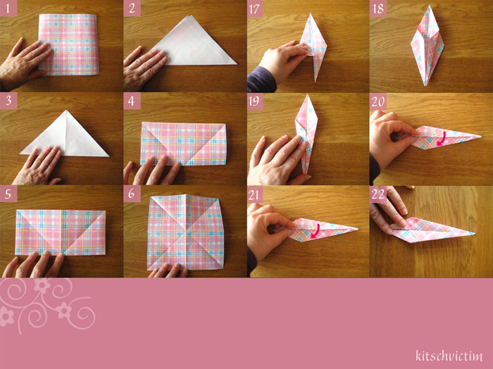 Origami paper cranes from kitschvictim