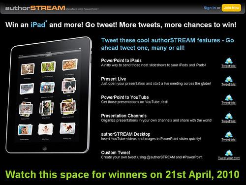 authorSTREAM iPad Contest