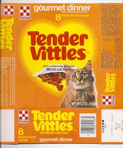 1984 Ralston Purina Tender Vittles Cat Food Box A Photo On Flickriver