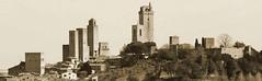 San Gimignano in seppia (Matteo Bimonte) Tags: san gimignano towers tuscany siena toscana torri medievali