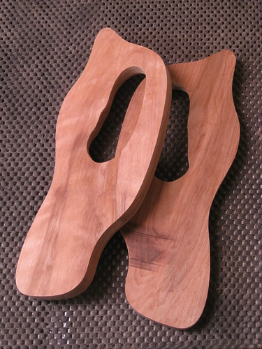 sawn saw handle halves