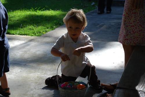Jeremiah hunts Easter eggs!
