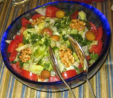 mavi tabak salata